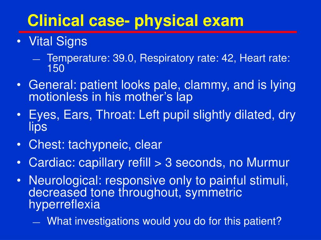 Clinical case- physical exam