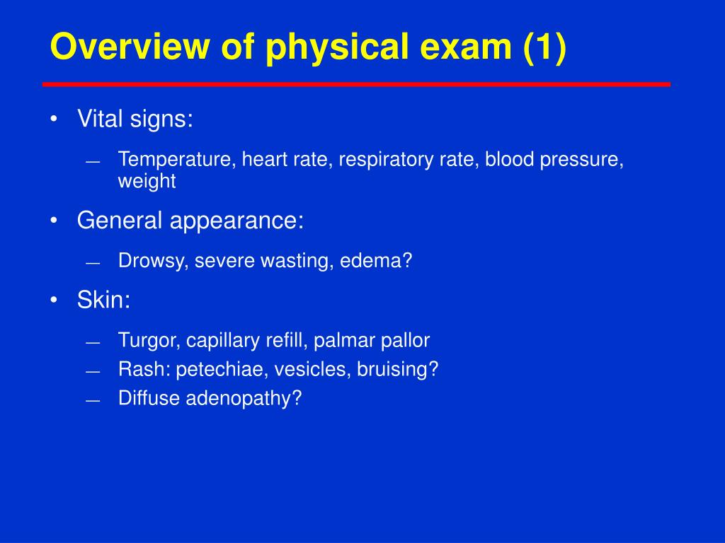 Overview of physical exam (1)