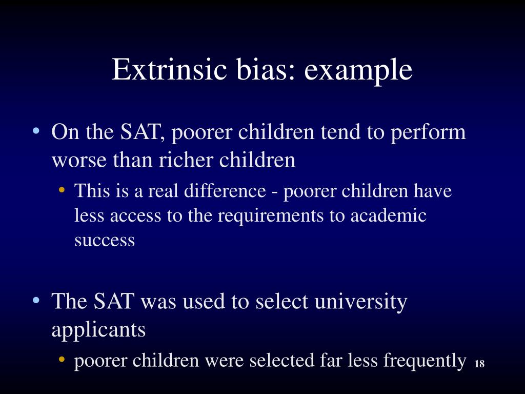 Extrinsic bias: example