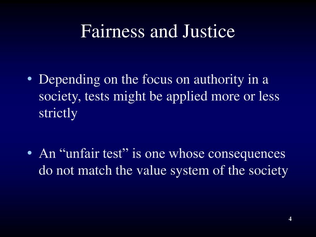 Fairness and Justice