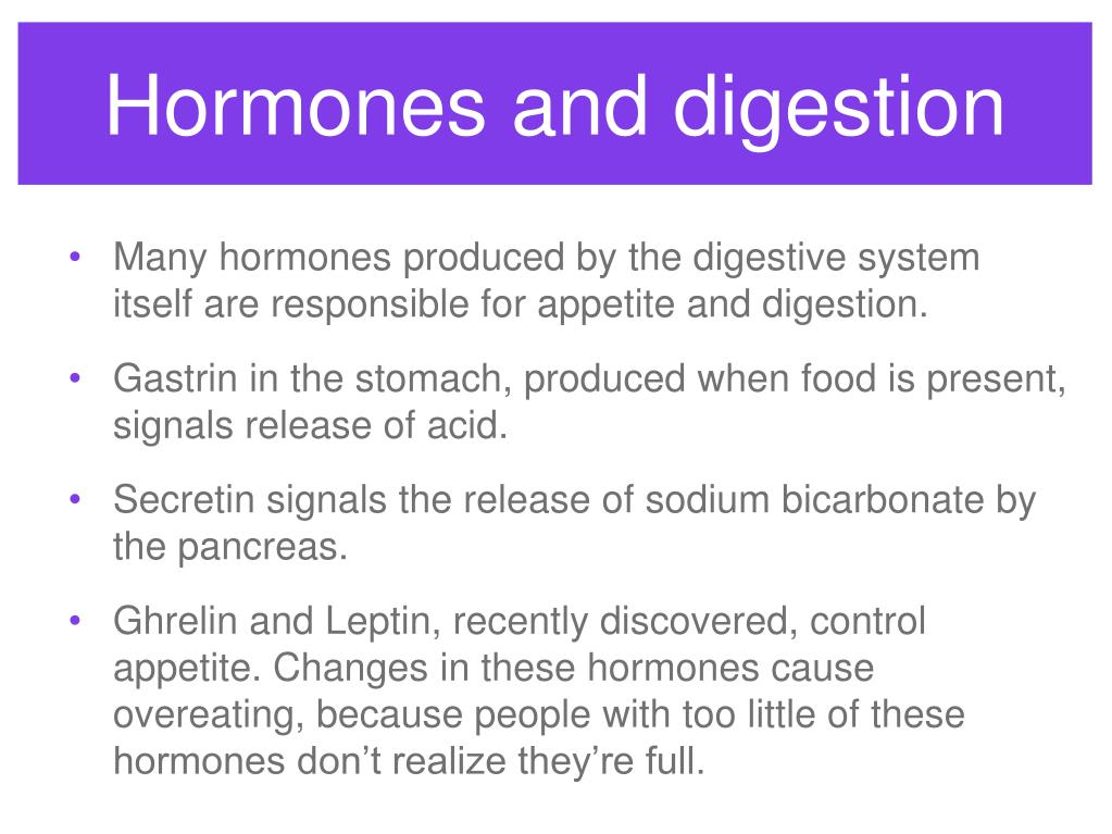 Hormones and digestion