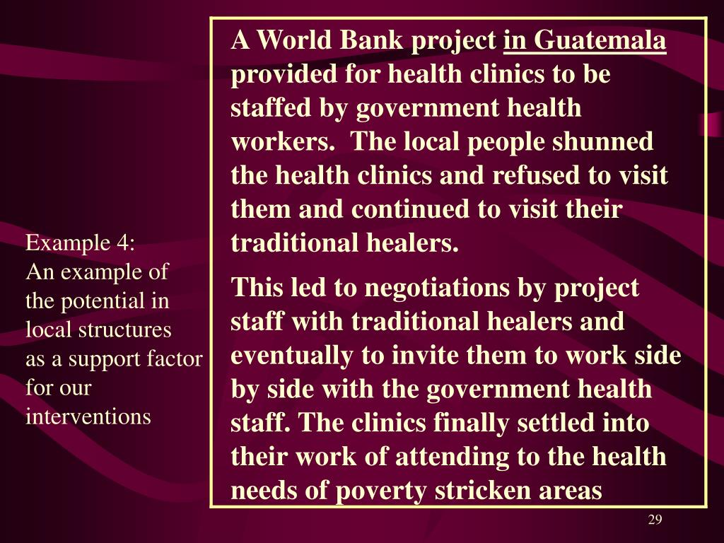 A World Bank project