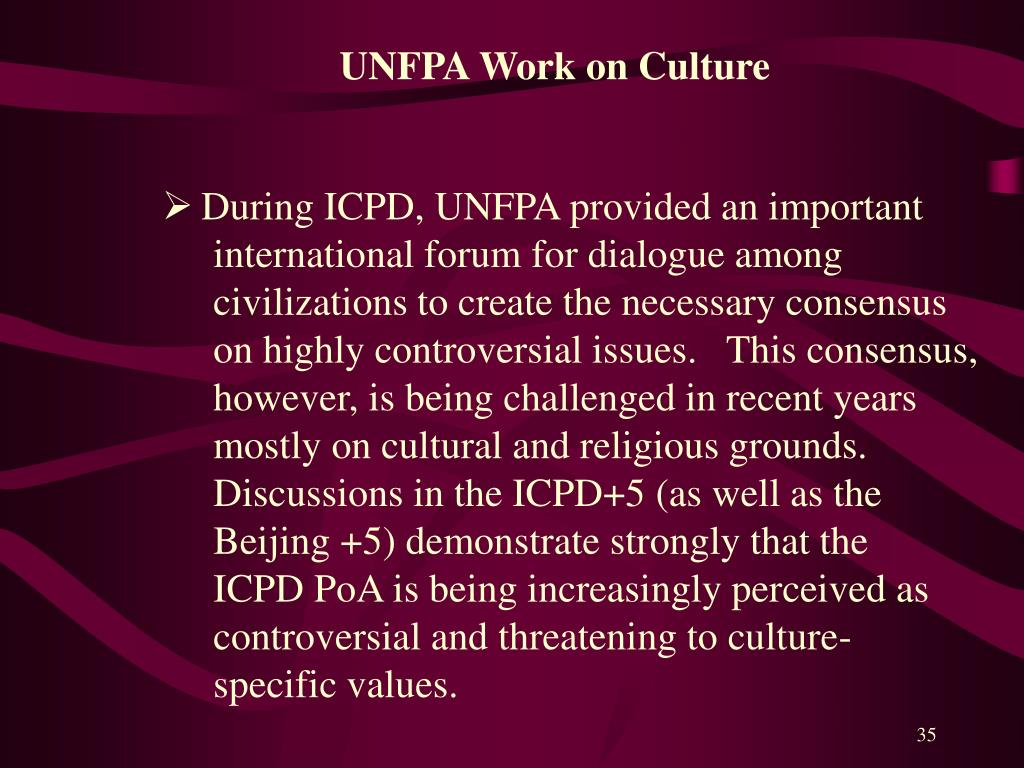 UNFPA Work on Culture