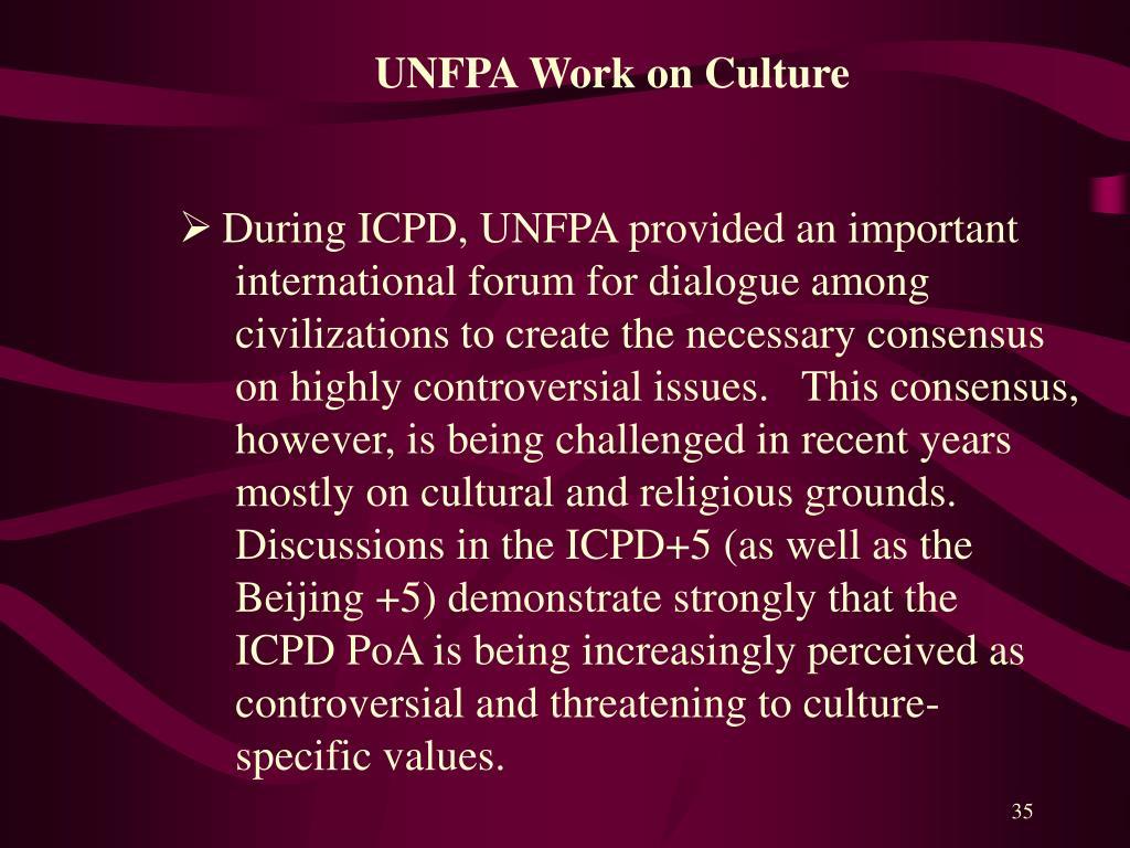 UNFPA Work on Culture