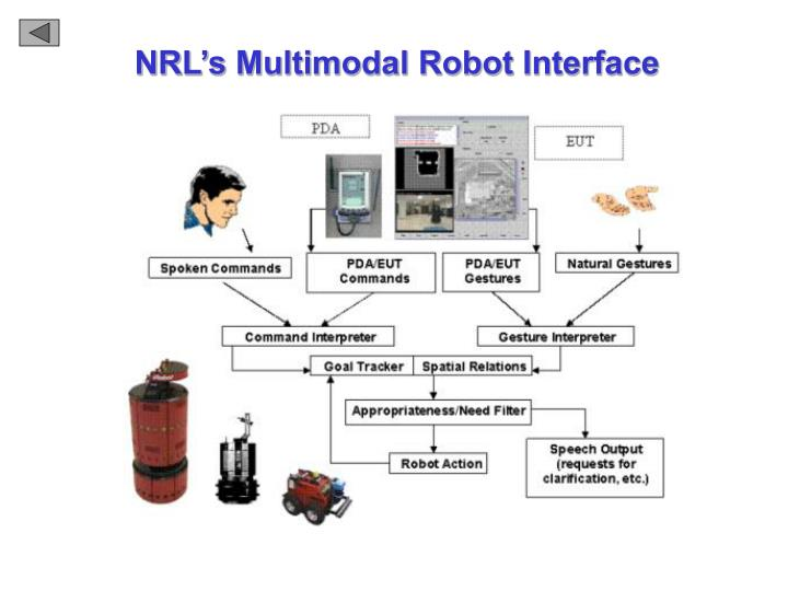 NRL's Multimodal Robot Interface