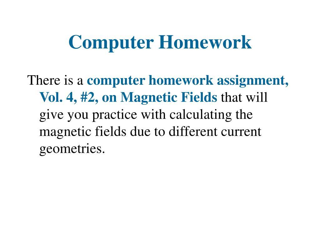 Computer Homework