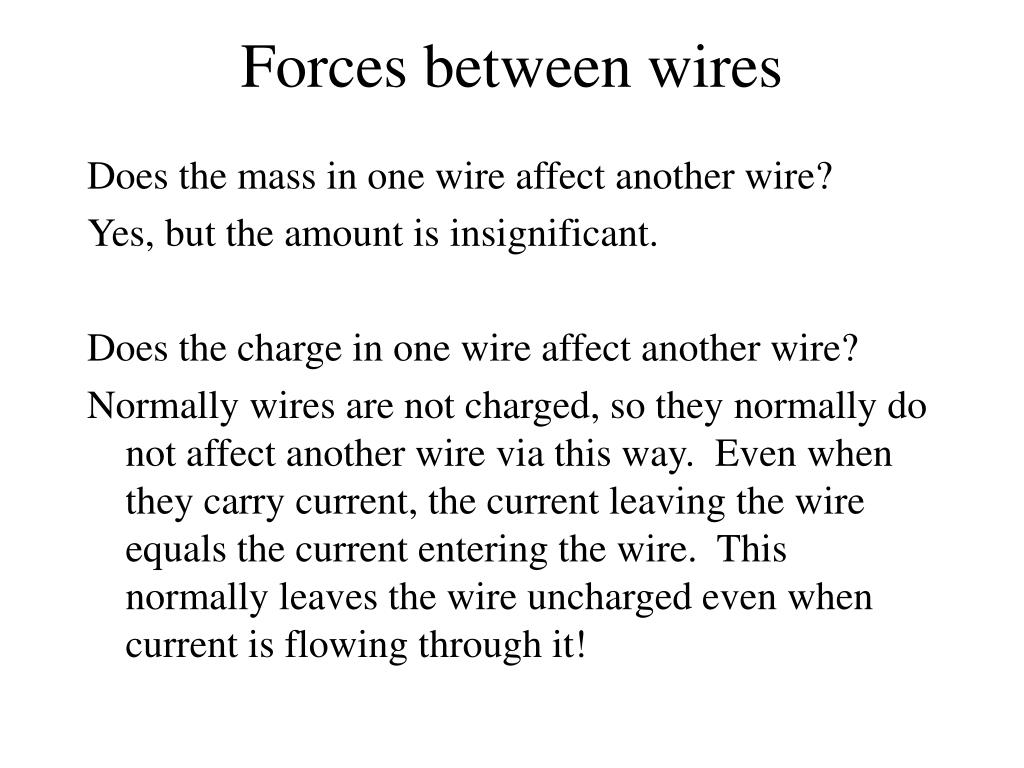 Forces between wires