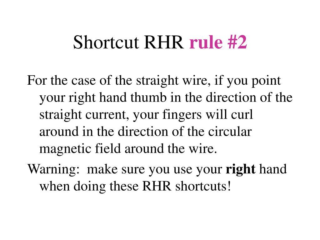 Shortcut RHR