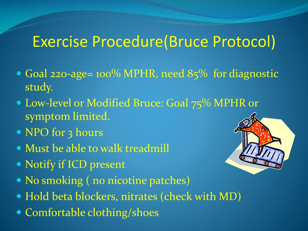 Exercise Procedure(Bruce Protocol)