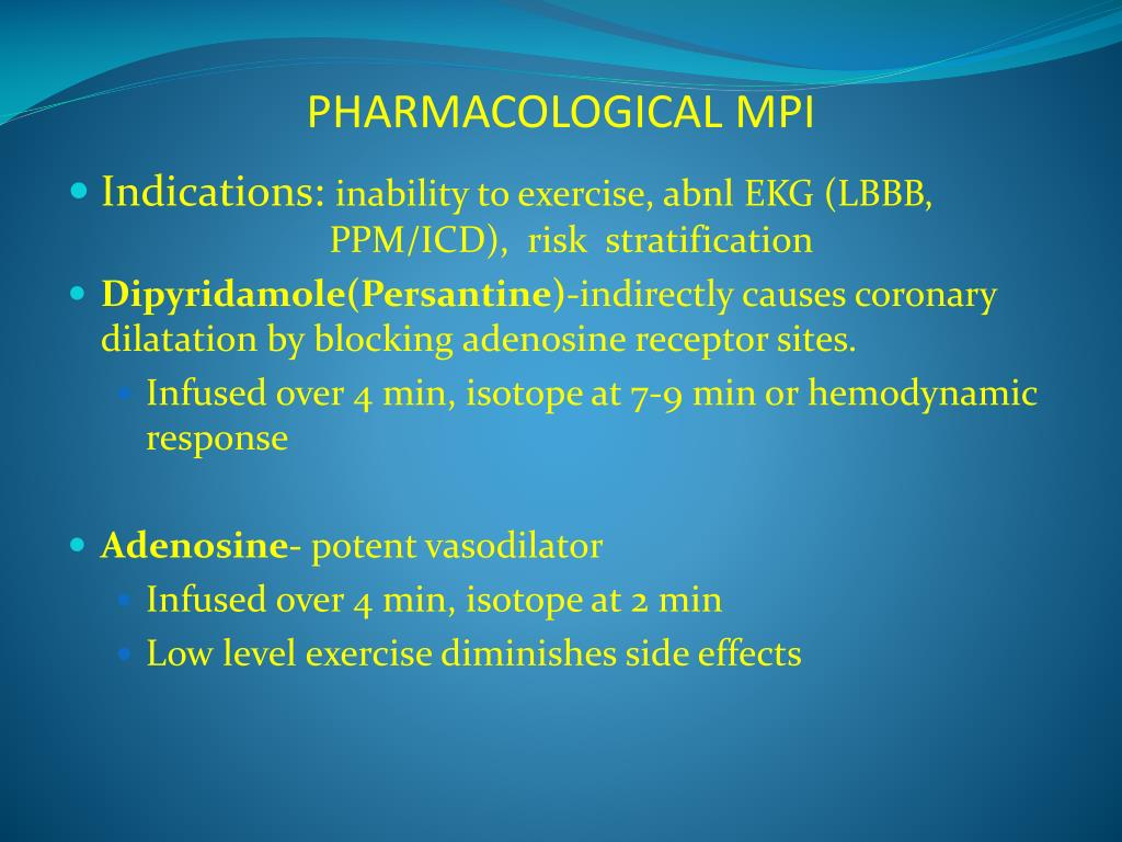 PHARMACOLOGICAL MPI