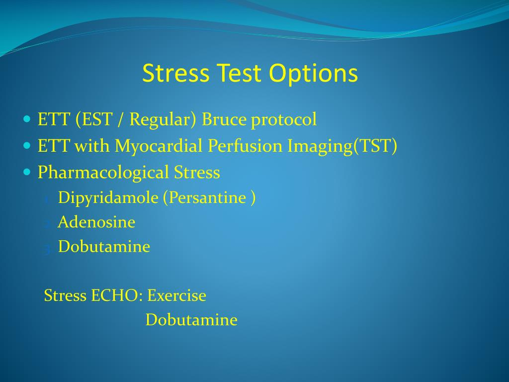 Stress Test Options