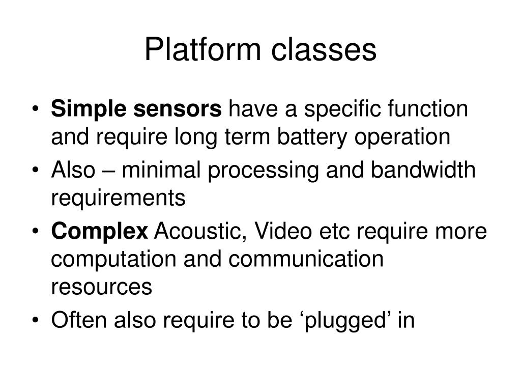 Platform classes
