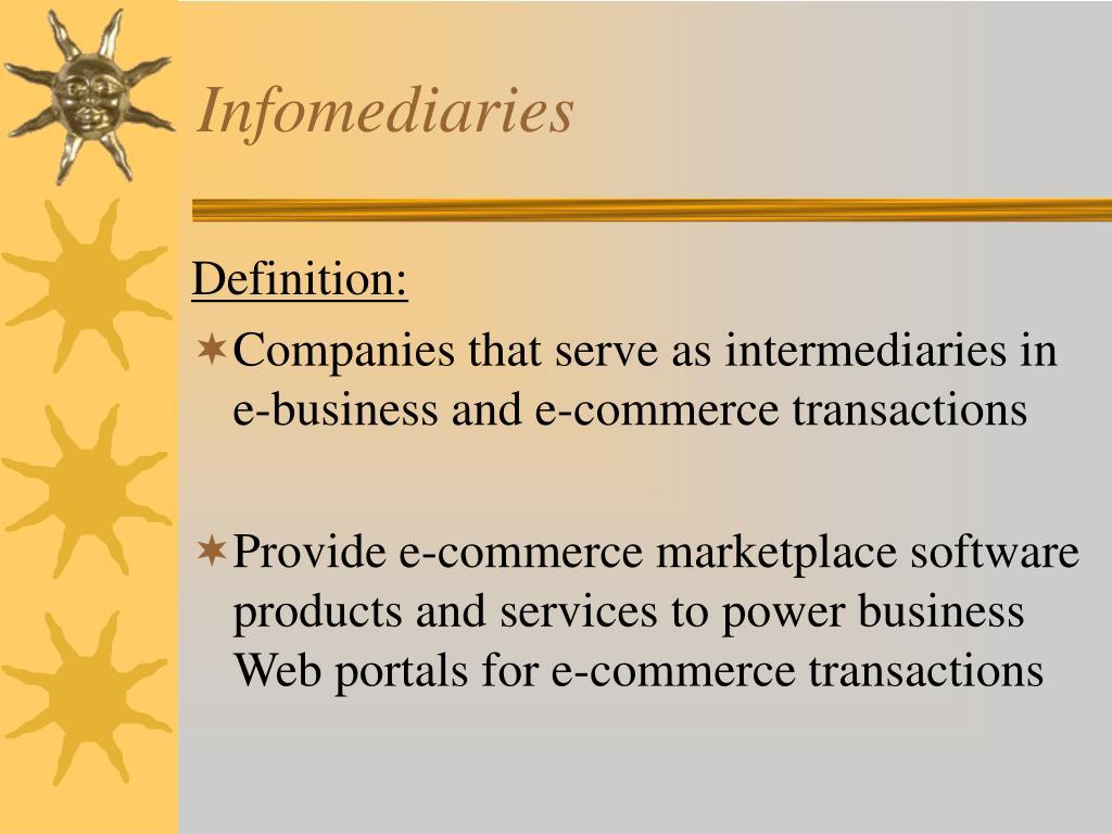 Infomediaries