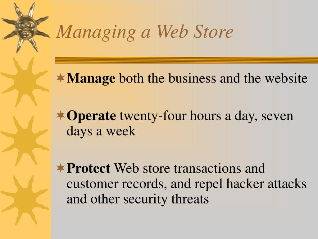 Managing a Web Store