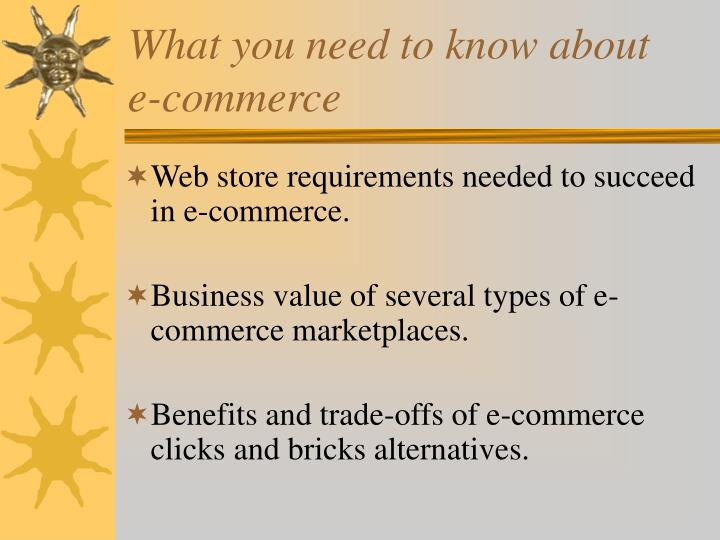 What you need to know about e commerce3