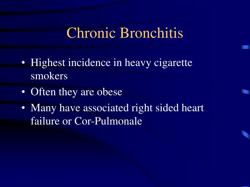 essay on chronic bronchitis Bronchitis bronchitis is inflammation of the main air passages to the lungs bronchitis may be short-lived acute or chronic, meaning that it lasts a long.