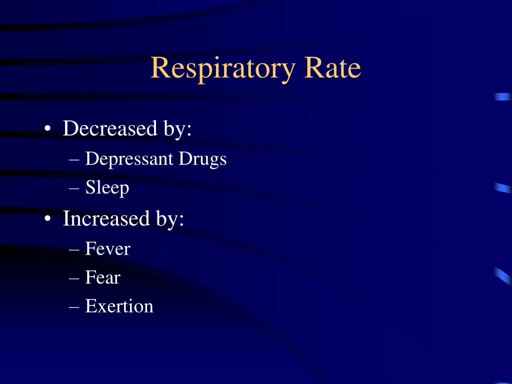 respiratory rate and tidal wave volume In the case of metabolic alkalosis, the respiratory system tries to compensate by changing the respiratory rate and tidal volume to reduce the amount of carbon dioxide that is being emitted neurological disorders can also affect the rate of respiration.