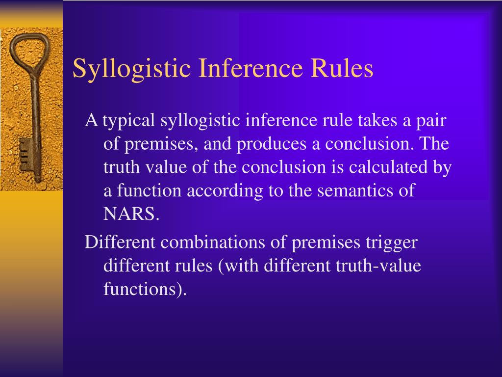 Syllogistic Inference Rules