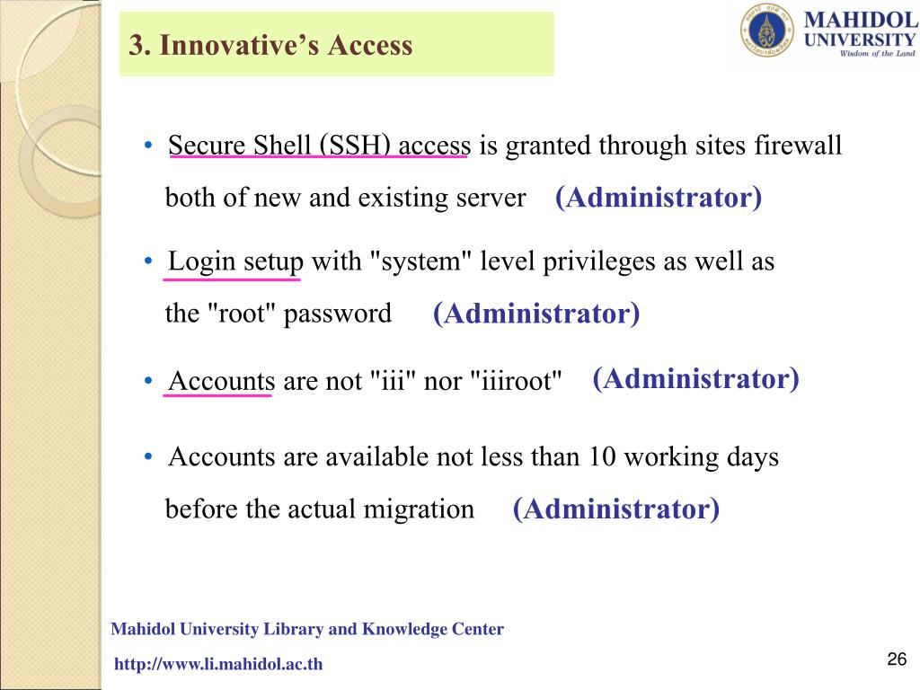 3. Innovative's Access