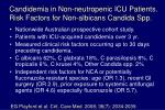 candidemia in non neutropenic icu patients risk factors for non albicans candida spp