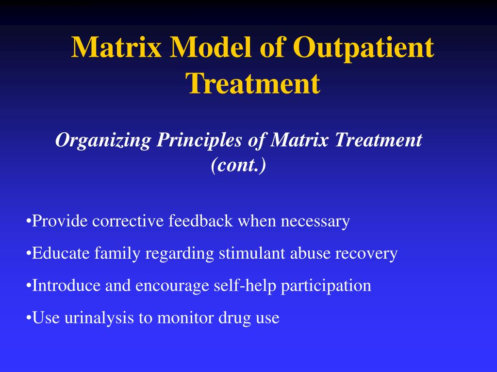 matrix model substance abuse manual