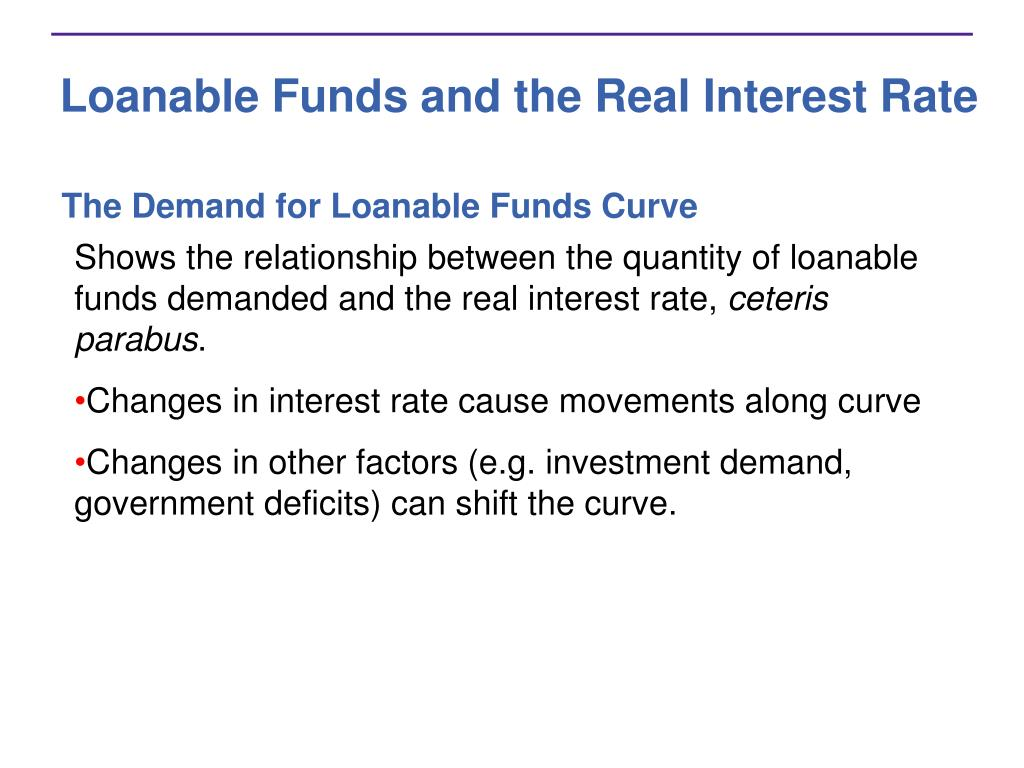 Loanable Funds and the Real Interest Rate