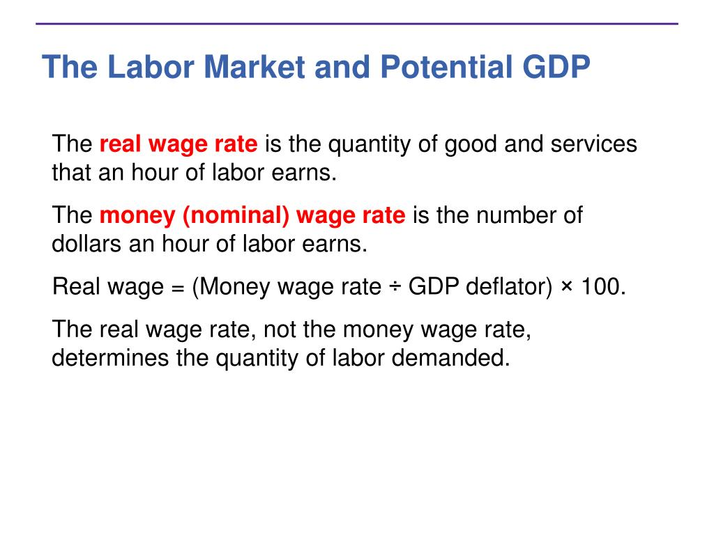 The Labor Market and