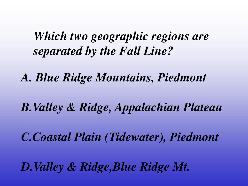 Which two geographic regions are