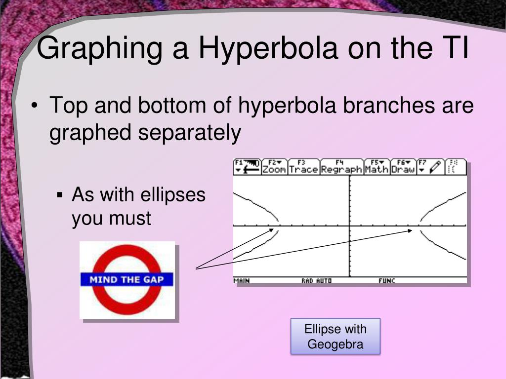 Graphing a Hyperbola on the TI