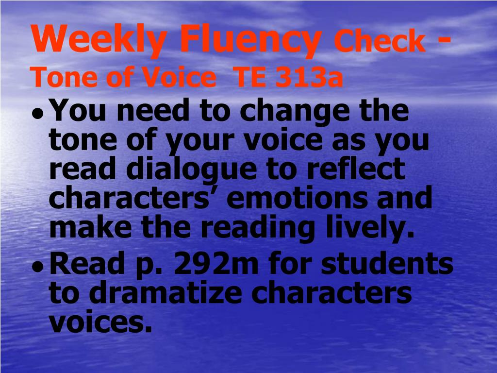 Weekly Fluency