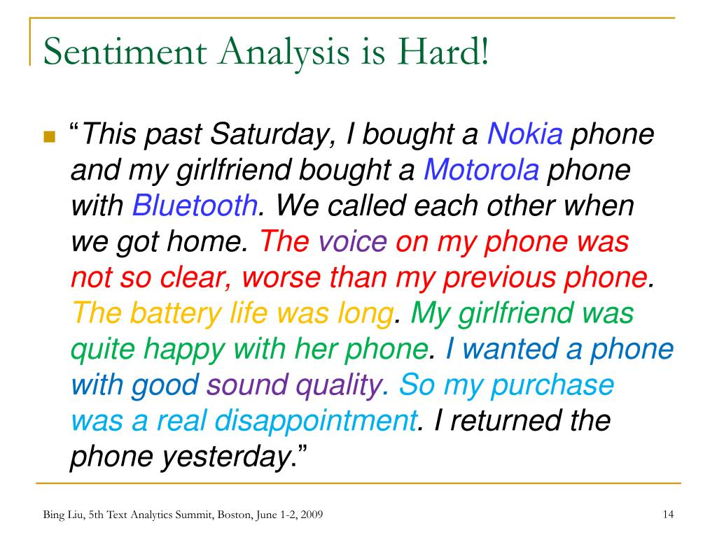 Sentiment Analysis is Hard!