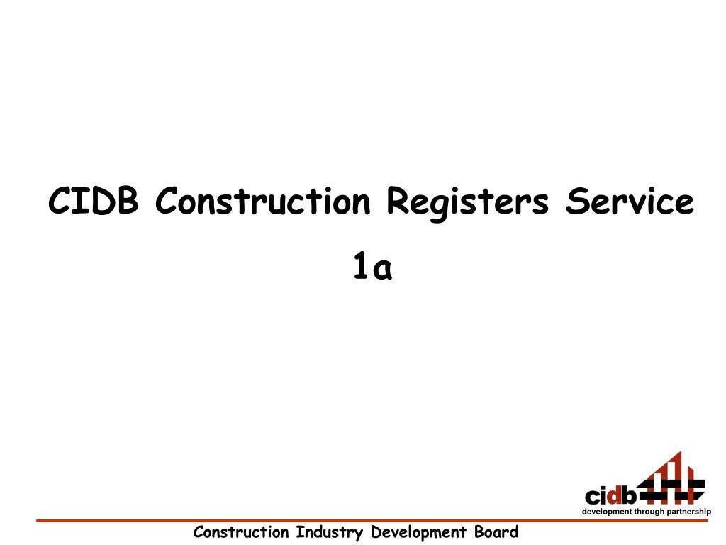 CIDB Construction Registers Service