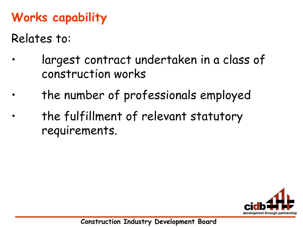 Works capability