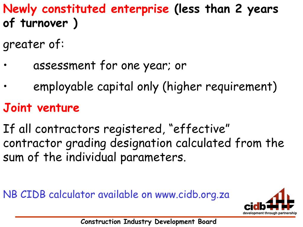Newly constituted enterprise