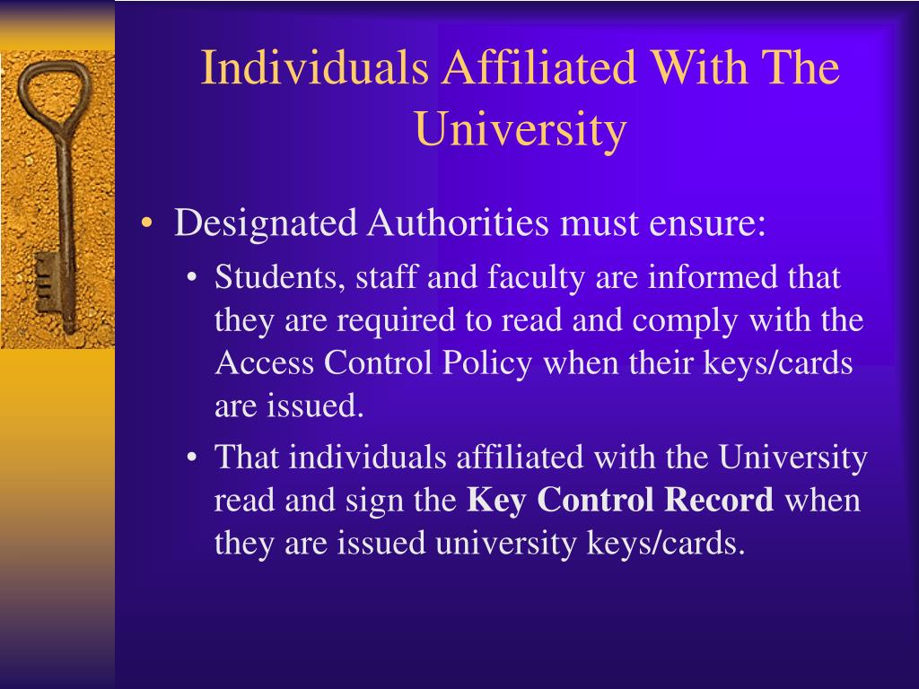 Individuals Affiliated With The University