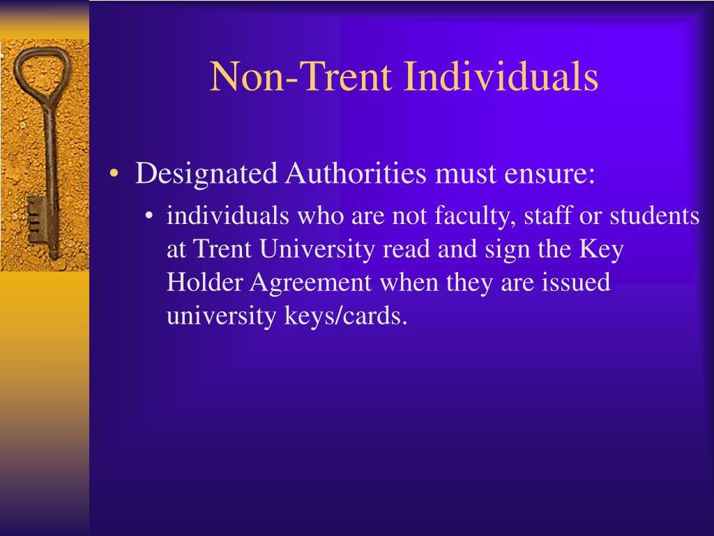 Non-Trent Individuals