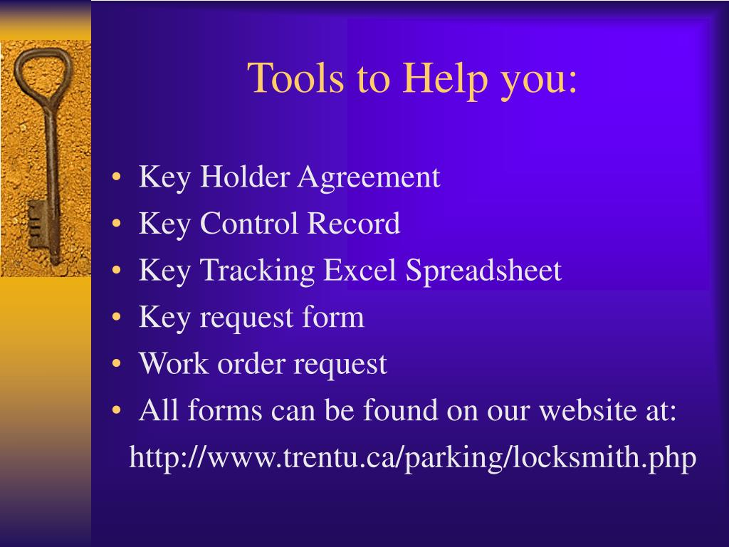 Tools to Help you: