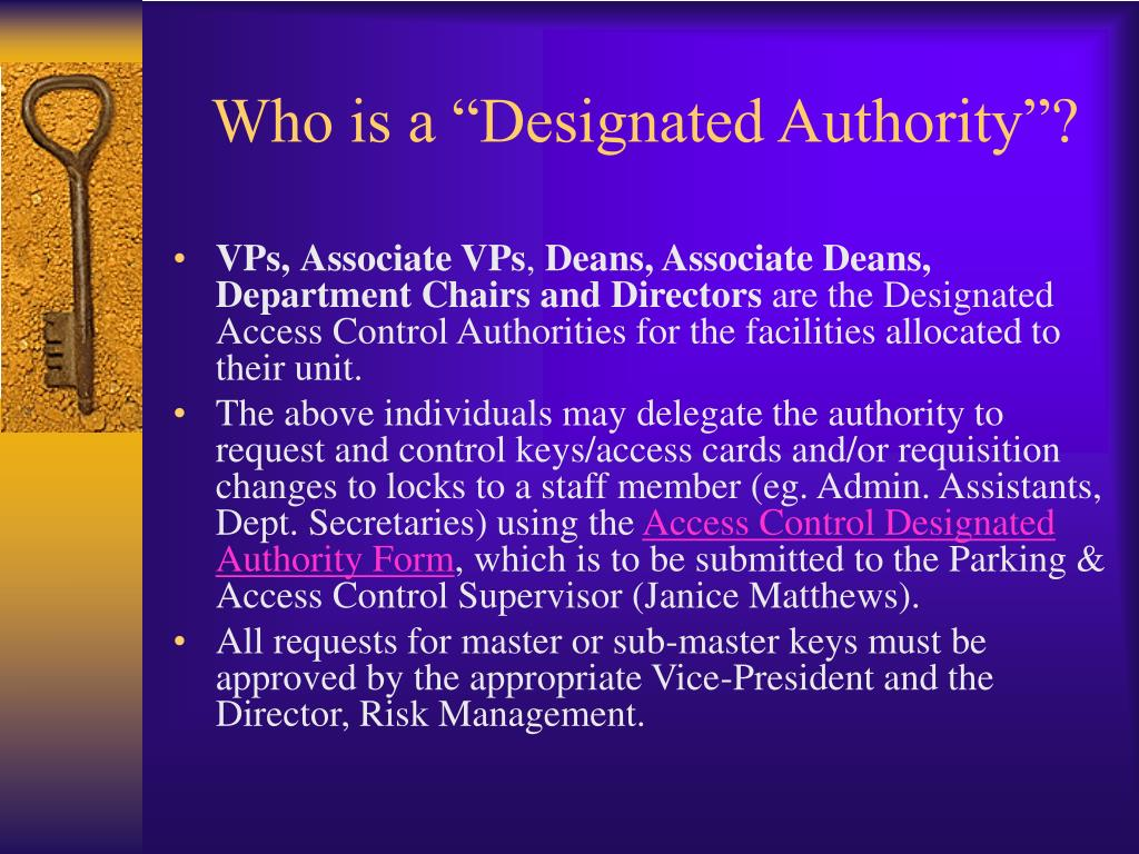 "Who is a ""Designated Authority""?"