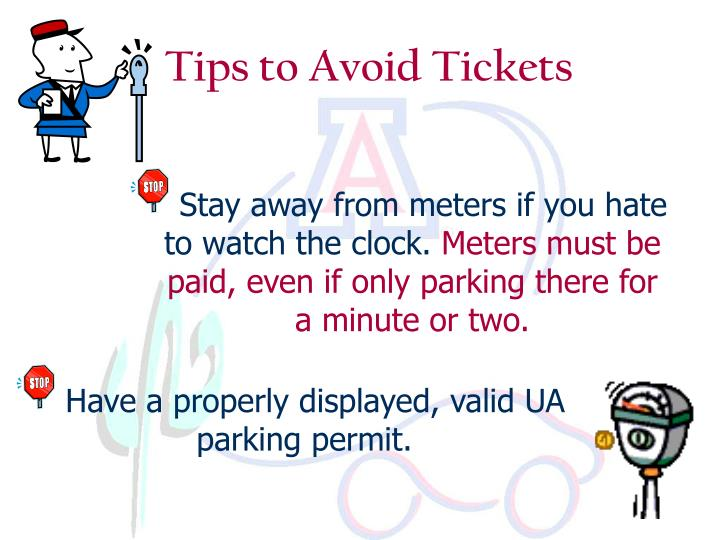 Tips to avoid tickets l.jpg