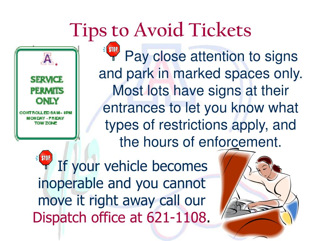 Tips to Avoid Tickets