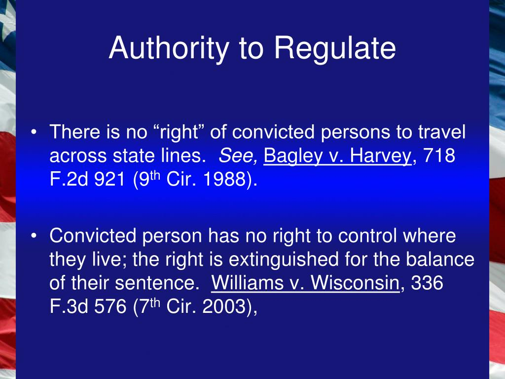 Authority to Regulate
