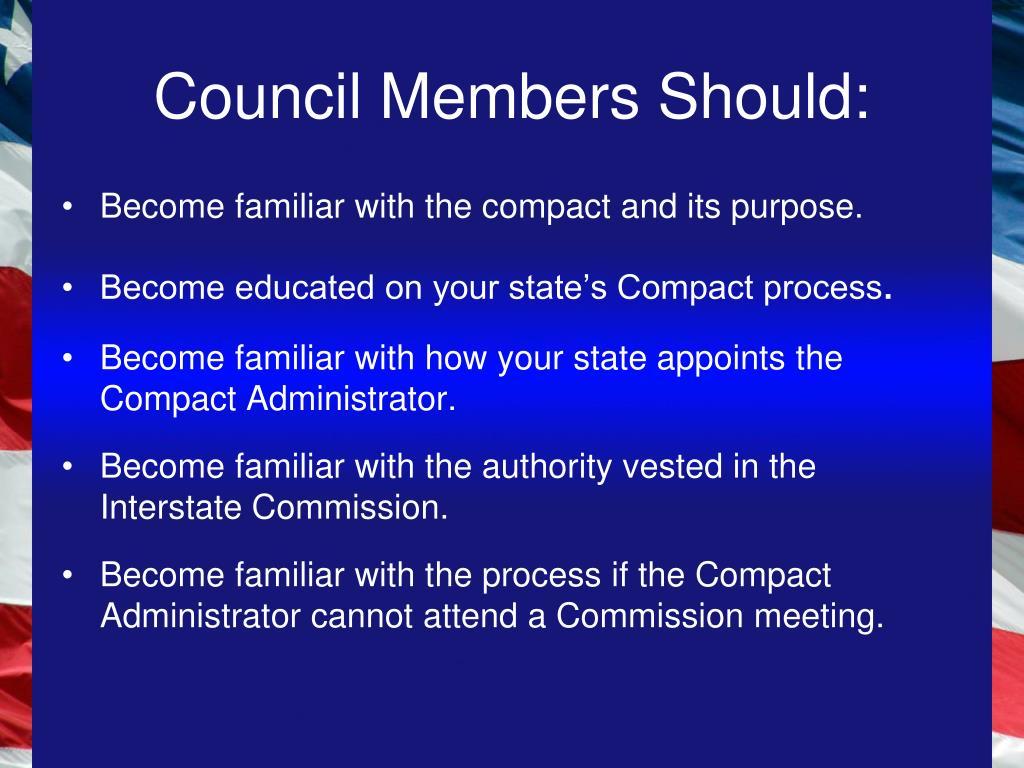 Council Members Should: