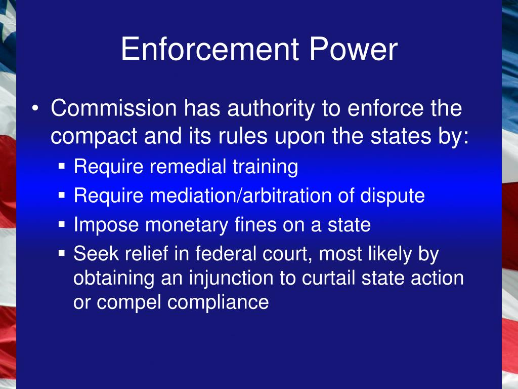Enforcement Power