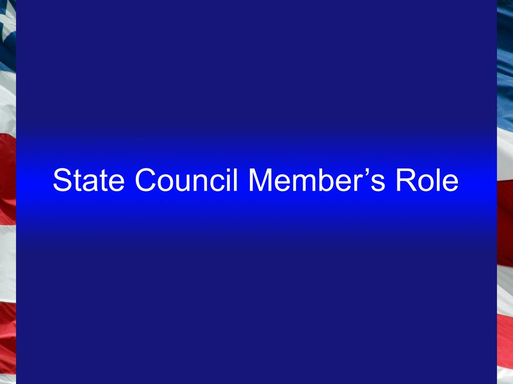 State Council Member's Role