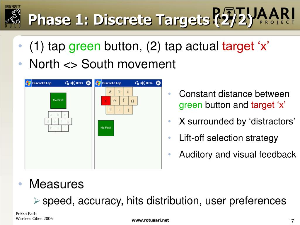 Phase 1: Discrete Targets (2/2)