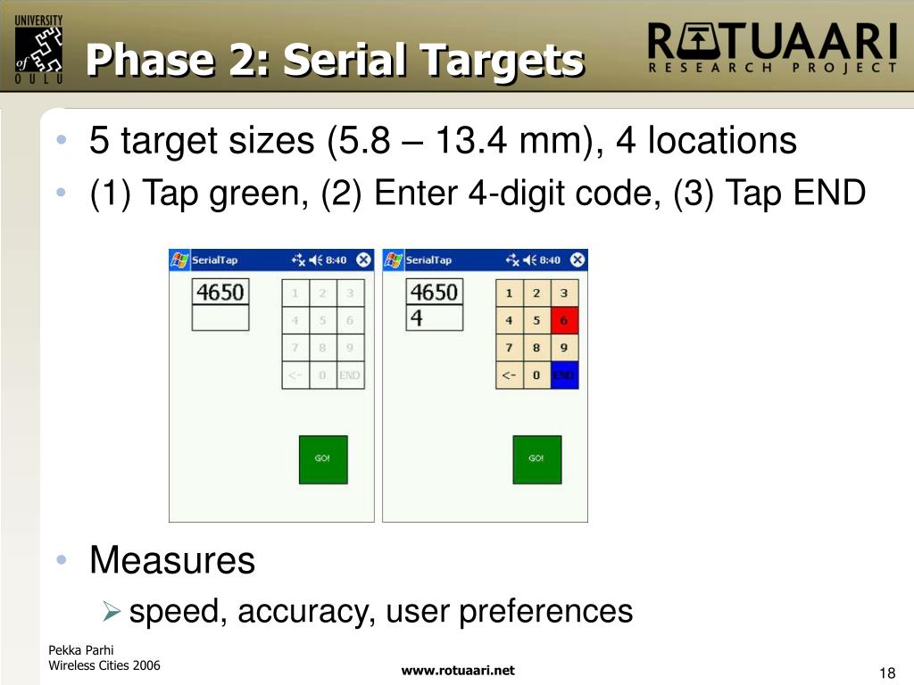 Phase 2: Serial Targets