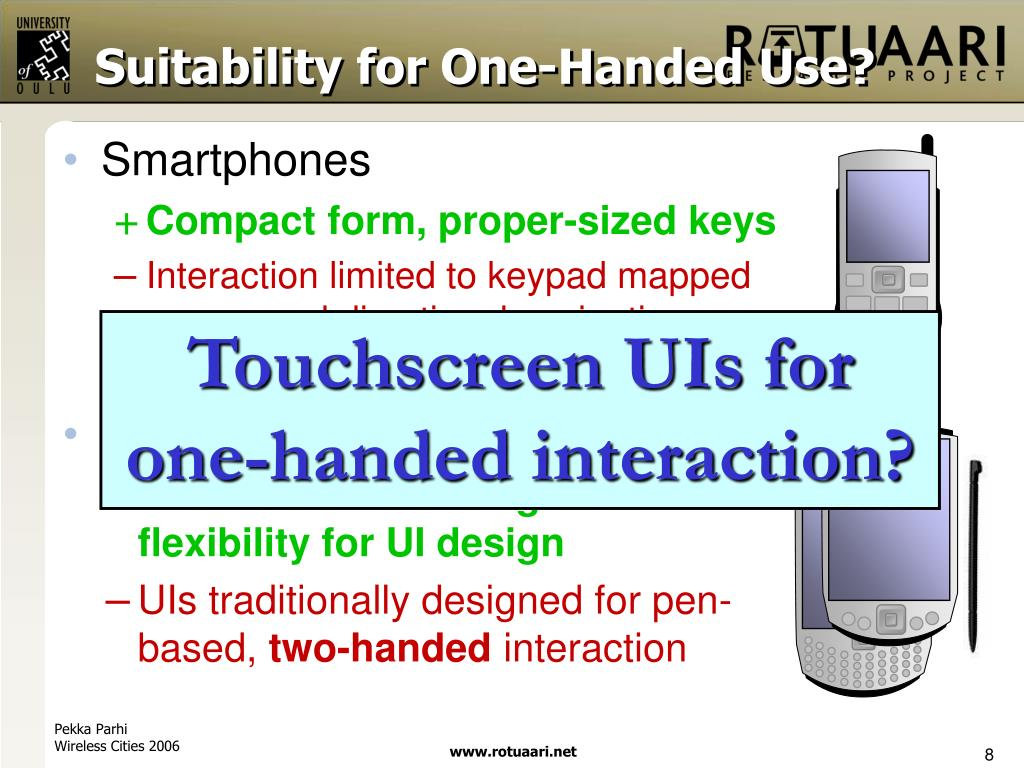 Suitability for One-Handed Use?