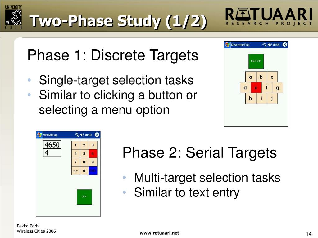Two-Phase Study (1/2)