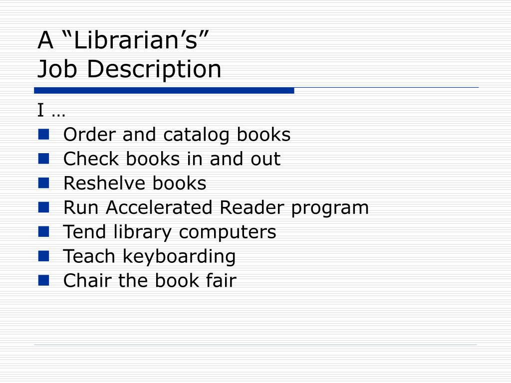 "A ""Librarian's"""