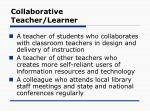 collaborative teacher learner